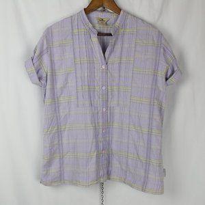 Vintage Woolrich Lilac Plaid Short Sleeve Shirt